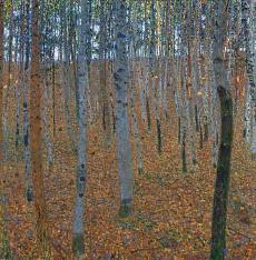 Kunst Tapete aus dem Jugendstil - Gustav Klimt, Buchenwald