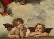 Zwei Engel. Detail aus Die Sixtinische Madonna
