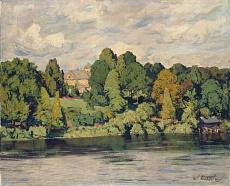 Kunst Tapete aus dem Expressionismus - Walter Leistikow, Villa an einem märkischen See