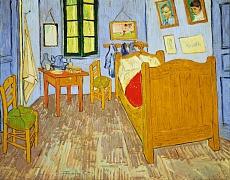 Van Goghs Schlafzimmer in Arles. 1889