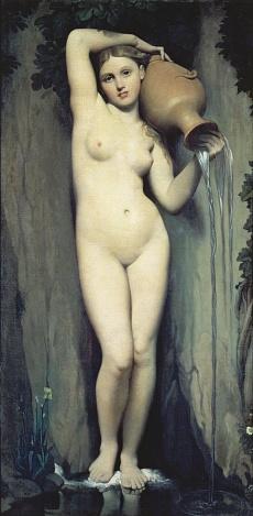 Kunst Tapete aus dem Klassizismus - Jean Auguste Dominique Ingres, Die Quelle