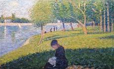 Näherin. Studie zu 'Ein Sommernachmittag auf der Insel Grande Jatte'. 1886