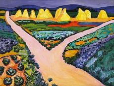 Kunst Tapete aus dem Expressionismus - August Macke, Gemüsefelder
