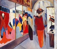Kunst Tapete aus dem Expressionismus - August Macke, Modegeschäft