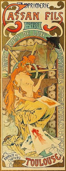 Werbeplakat für das Druckhaus 'Cassan Fils'. 1897