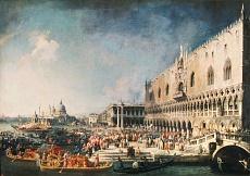 Der Empfang des französischen Gesandten in Venedig. 1725/26