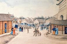 Die Tsian-Minh-Brücke (chinesische Zeichnung). 1804/1806