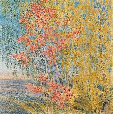 Kunst Tapete aus dem Expressionismus - Jigor Emmanuilowitsch Grabar, Herbstlaub