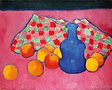 Blaue Vase mit Orangen. Um 1907