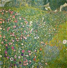 Kunst Tapete aus dem Jugendstil - Gustav Klimt, Italienische Gartenlandschaft