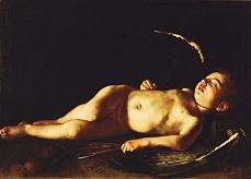 Schlafender Amor. Um 1608