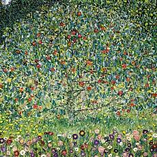 Kunst Tapete aus dem Jugendstil - Gustav Klimt, Apfelbaum I.