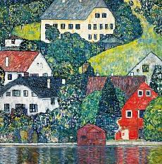 Kunst Tapete aus dem Jugendstil - Gustav Klimt, Unterach am Attersee