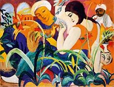 Kunst Tapete aus dem Expressionismus - August Macke, Orientalische Frauen