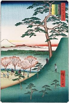 Fuji, Meguro. Aus der Serie: Hundert Ansichten von Sehenswürdigkeiten in Edo