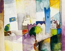 Kunst Tapete aus dem Expressionismus - August Macke, Kairouan III