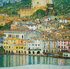 Kunst Tapete aus dem Jugendstil - Gustav Klimt, Malcesine am Gardasee