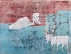 Kunst Tapete aus dem Expressionismus - Paul Klee, Tier-Freundschaft