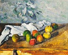 Äpfel und ein Handtuch