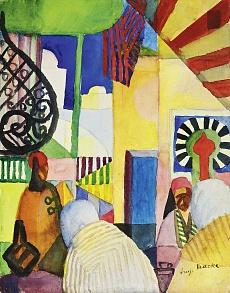 Kunst Tapete aus dem Expressionismus - August Macke, Im Bazar
