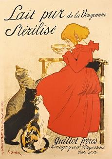Werbeplakat für sterilisierte Milch. 1894