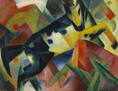 Kunst Tapete aus dem Expressionismus - Franz Marc, Springendes Pferd