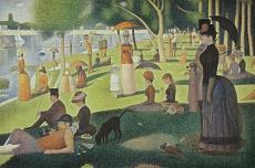 Georges Seurat, Ein Sonntagnachmittag auf der Insel La Grande Jatte. 1884-86