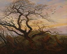 Kunst Tapete aus der Romantik -  Caspar David Friedrich, Rabenbaum