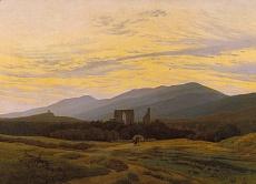 Kunst Tapete aus der Romantik - Caspar David Friedrich, Die Ruine Eldena im Riesengebirge