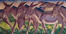 Kunst Tapete aus dem Expressionismus - Franz Marc, Eselfries