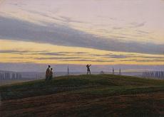 Kunst Tapete aus der Romantik - Caspar David Friedrich, Der Abendstern