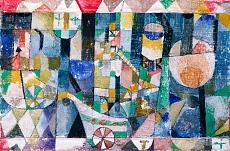 Paul Klee, Hafenbild (Raddampfer). 1918