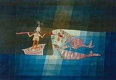 Paul Klee, Kampfszene aus der komisch-phantastischen Oper Der Seefahrer. 1923