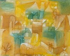 Paul Klee, Fassade braun grün. 1919