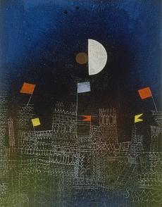 Paul Klee, Beflaggte Stadt. 1927