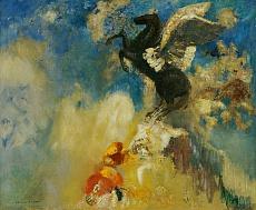 Odilon Redon, Der schwarze Pegasus. 1909/1910
