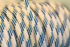 Weiß-blaue Leine