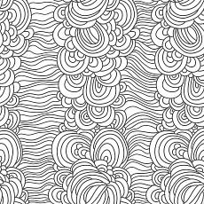 Wellenmuster in Schwarz, Weiß