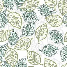 Muster Blätter mit Grün-Tönen