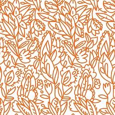 Florales Muster in Orange