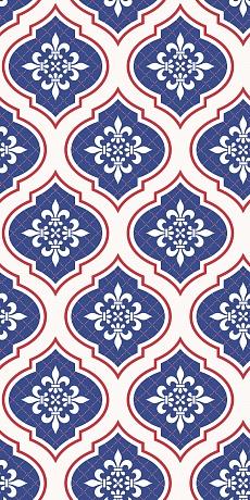 blaues traditionelles Muster im royalen Medallion Stil