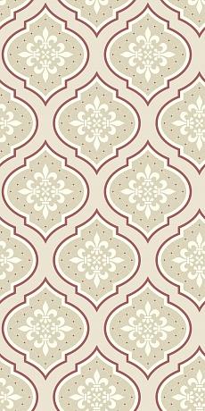 beiges traditionelles Muster im Medallion Stil