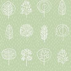 abstrakte Bäume im Regen