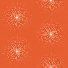 funkelnde Sterne auf orangem Hintergrund