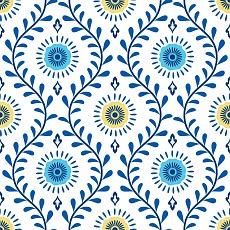 florales Muster im Medallion Stil