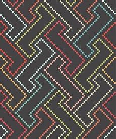 Buntes Geometrisches Muster auf dunklem Hintergrund