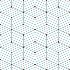 Blaue Linien mit roten Punkten