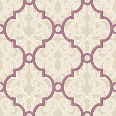 violettes Muster auf beigen Ornament
