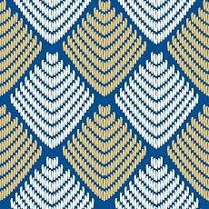 ethnisches Muster in Blau mit Gold