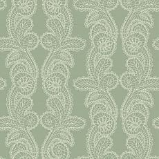 florales Lace Pattern auf grünem Hintergrund